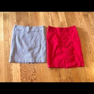 Two Limited Fall Skirts Lot